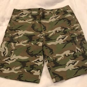 Micros Army printed 100% cotton shorts
